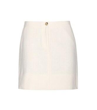 miniskirt cotton white skirt