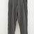 Black Stripe Print High Waist Pocket Accent Chic Pants