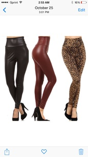 leggings,tights,pants,leather leggings,leather,leopard timberlands,high waisted jeans,high waist pants,tummy control,fleece leggings,black,brown,grey