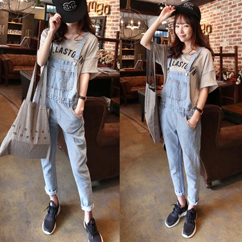 2014 fashion euro boyfriend vintage style casual harem jeans overall, light blue loose denim strap jumpsuit bib pants on aliexpress.com