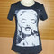Marilyn monroe t shirt mustache shirt plus size clothing size s m l xl dark grey mustache funny t shirt women t shirts crew neck shirt