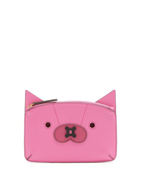Anya Hindmarch fox purse leather pink bag