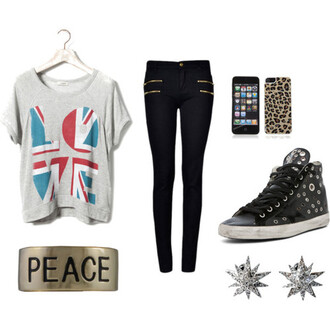 jewels clothes t-shirt pants union jack love
