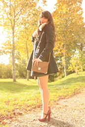 the cherry blossom girl,coat,skirt,bag,sweater,shoes