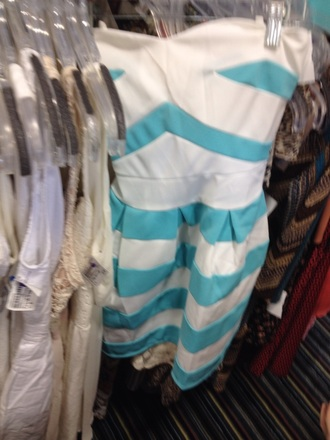 dress tiffany blue white