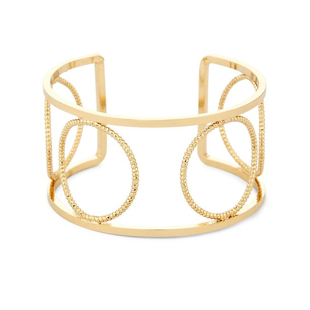 Sole Society Circular Cutout Cuff  - Gold-One Size