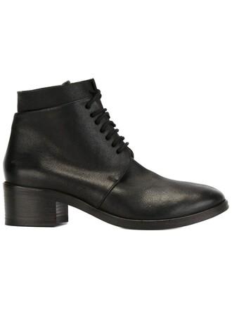 boots lace black shoes