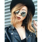 sunglasses,mirrored sunglasses,mirror,mirrored,ombre,hair,hat,felt hat,fedora,leather,black leather,leather jacket,accessories,Accessory,hipster,edgy,style,trendy,stylish,tumblr,cool,girl,blogger,dope,dope wishlist,hot,swag,pretty,instagram,streetwear,on point clothing,cute,casual,tumblr girl,summer,classy,all black everything,black,clothes,gorgeous,women,fashionista,chill,rad,jacket,silver sunglasses