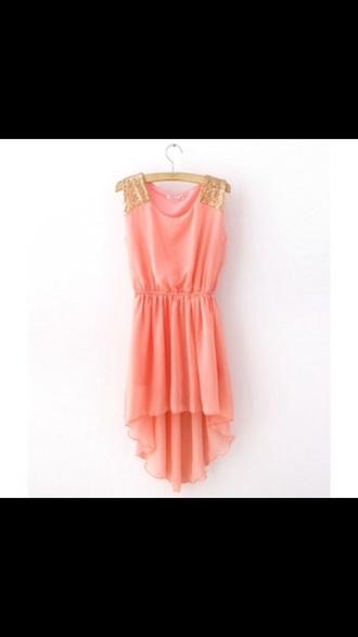 dress coral dress orange dress
