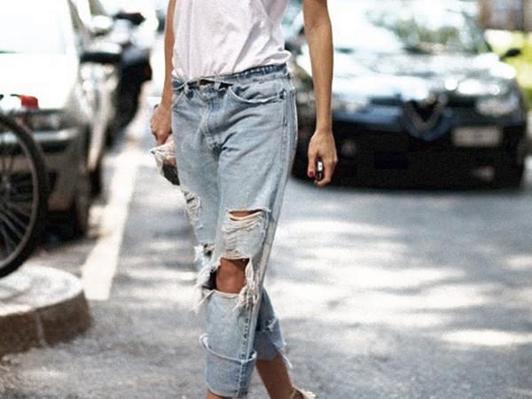 jeans denim boyfriend jeans ripped jeans pants ripped jeans