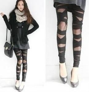 Sexy Stretch Women's Leggings Cross Straps Mesh Pantyhose Tight TK01 | eBay