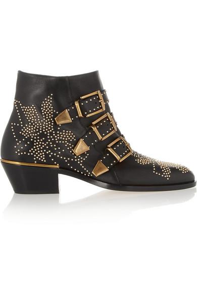 Chloé|Susanna studded leather ankle boots |NET-A-PORTER.COM