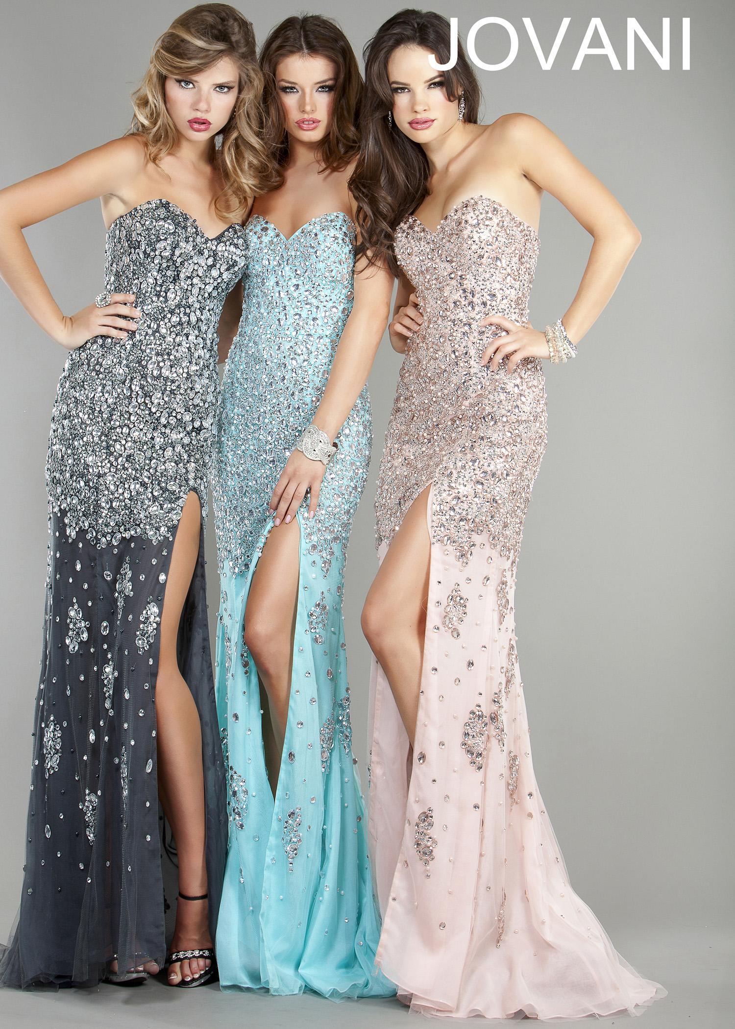 Gunmetal, aqua, pink beaded strapless evening dress, prom dresses 2013