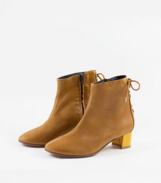 shoes block heels ankle boots camel camel ankle boots lace up boots back to school fall outfits