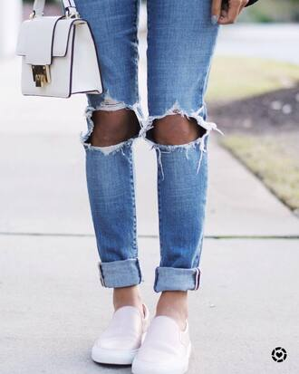 shoes pink shoes jeans blue jeans