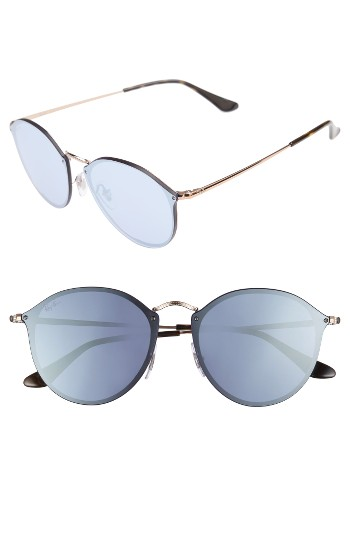 Ray-Ban 59mm Blaze Round Mirrored Sunglasses | Nordstrom