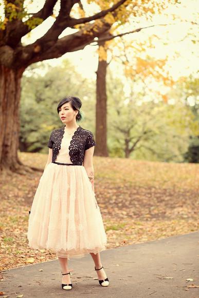 keiko lynn shoes bag jewels blogger crochet baby pink bolero romantic bridesmaid