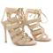 Beige suede strappy sandals