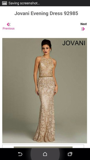 dress jovani lace dress