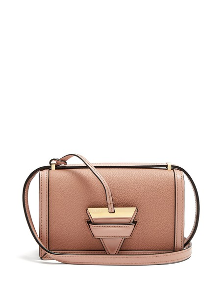 cross bag leather light pink light pink