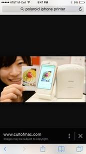 home accessory,iphone,polaroid printer,technology