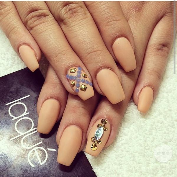 nail polish nails nail polish nude tan matte beautiful
