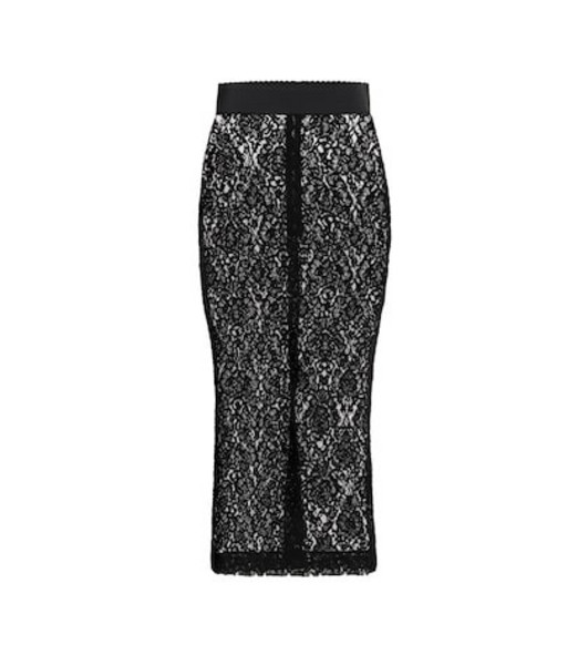Dolce & Gabbana Lace pencil skirt in black