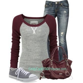 sweater jeans watch converse all star bag