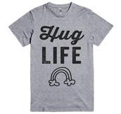 t-shirt,grey,casual,shirt,top,rainbow,hug,funny,cool,trendy,swag,quote on it,thug life,teenagers,summer