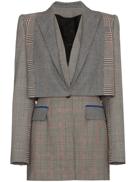 Alexander Mcqueen blazer women wool grey jacket