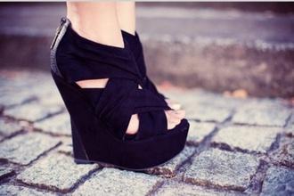 shoes wedges black wedges black