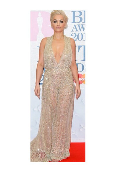 dress nude sparkle rita orang flow long