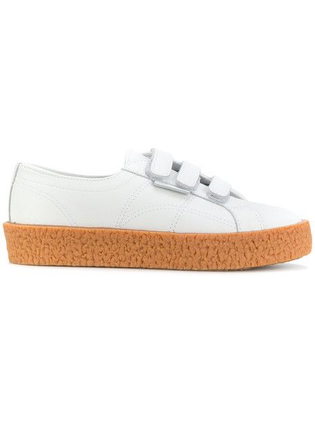 Superga women sneakers leather white shoes