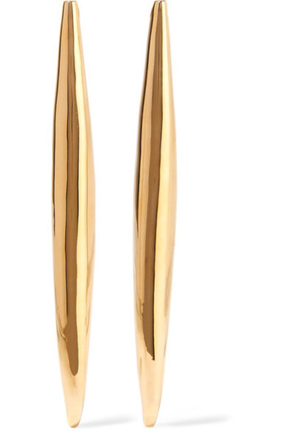 Jennifer Fisher - Smooth Slice Gold-plated Earrings