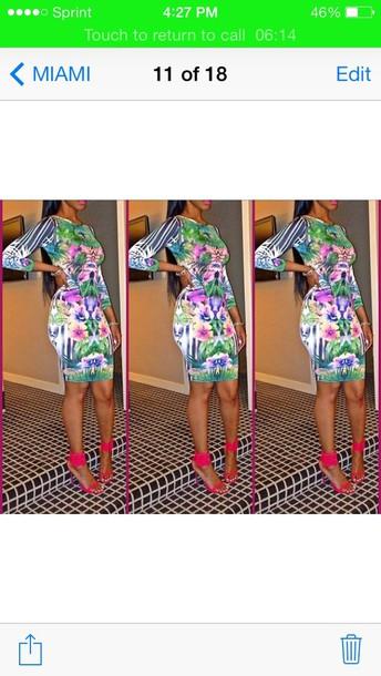 dress long sleeve dress floral striped dress
