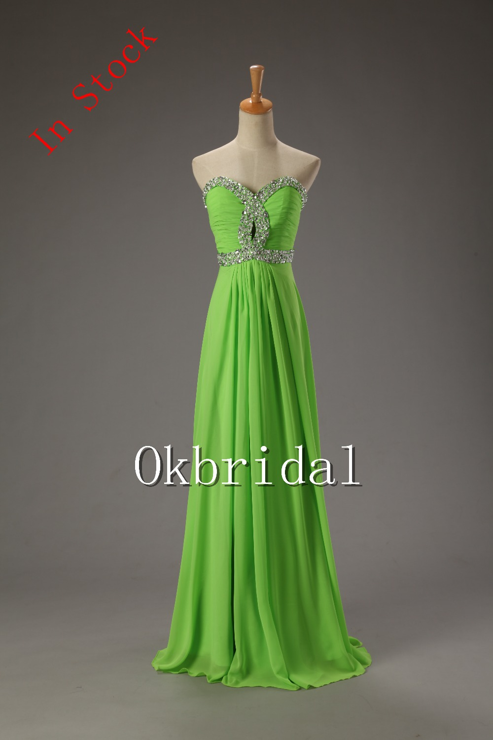 Dress party dress for bridesmaid lime green cheap formal drses from