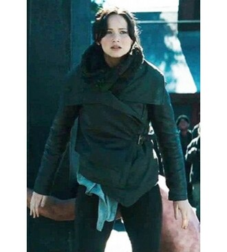 coat trendy girly stylish newone the hunger games