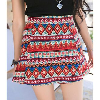 skirt sexy cute girly girl style print boho bohemnian party classic stylish trendy cool edgy fashion fashionista casual vintage ethnic high waisted beautiful short ethnic pattern
