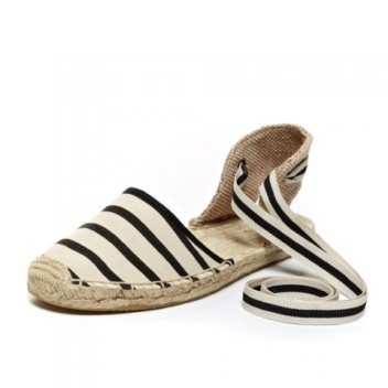 Sandal - Navy White Closed Espadrilles for Women from Soludos  - Soludos Espadrilles