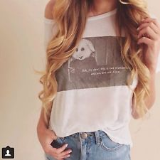 "Brandy melville "" but dear this is not wonderland and you are not alice"" top"