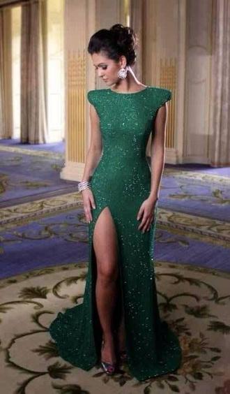 dress green dress green evening dress prom gown