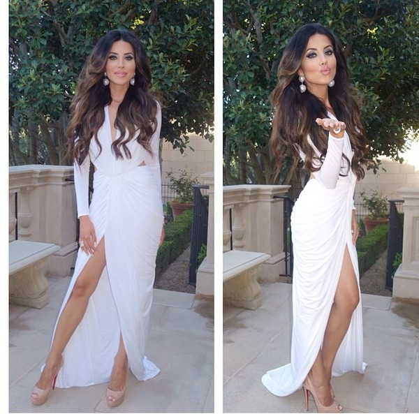 leyla milani leylamilani dress prom dress white dress white