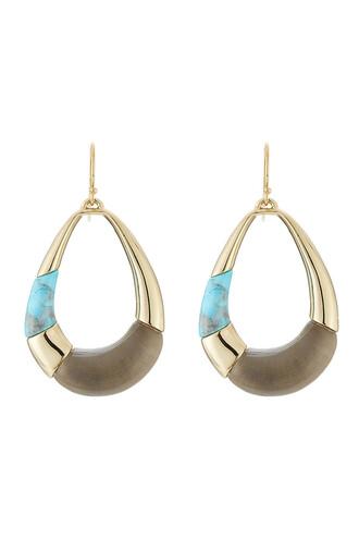 colorblock earrings gold jewels