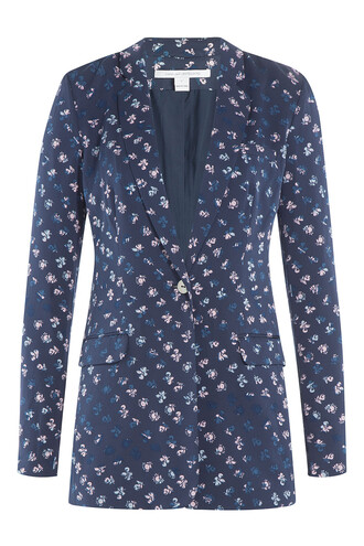 blazer silk blue jacket