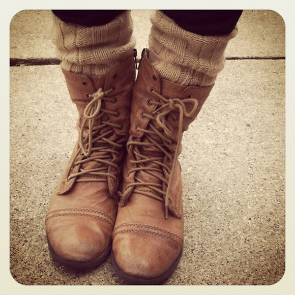 shoes boots combat boots socks winter outfits winter boots brown boots