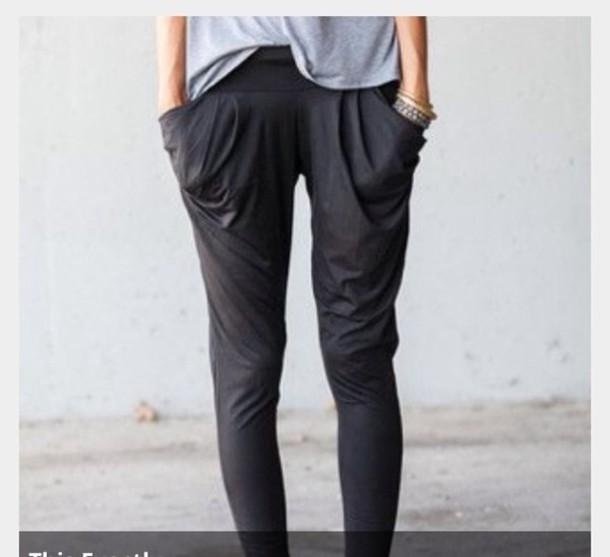 pants grey loose pants harlem pants gray pants grey pants loose comfy hipster leggings jeans loose pockets yoga pants lounge wear joggers hippy pants