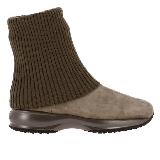 Hogan women booties beige shoes