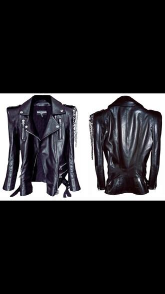 jacket black leather balmain chanel leather jacket