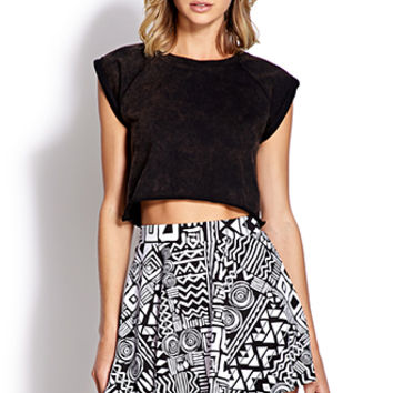 Tribal Print Skater Skirt on Wanelo