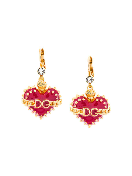 Dolce & Gabbana heart earrings heart women earrings grey metallic jewels
